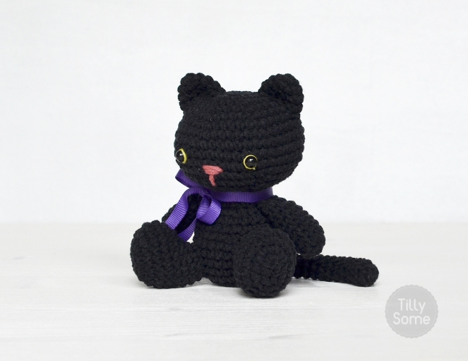 Amigurumi Black Cat Pattern : Amigurumi Black Cat Free crochet pattern TillySome ...
